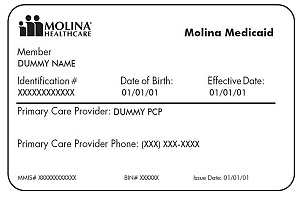 an example medicaid care card to show to a doctor