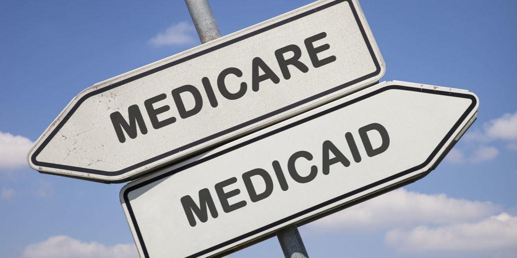 Maryland Medicare vs. Maryland Medicaid on a sign