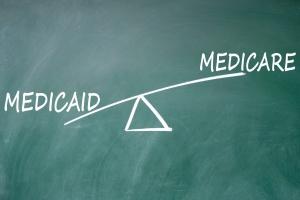 Maryland Medicare vs. Maryland Medicaid on chalk board