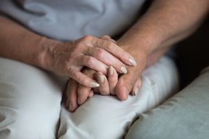 supporting someone in Medical Assisted Treatment by holding hands