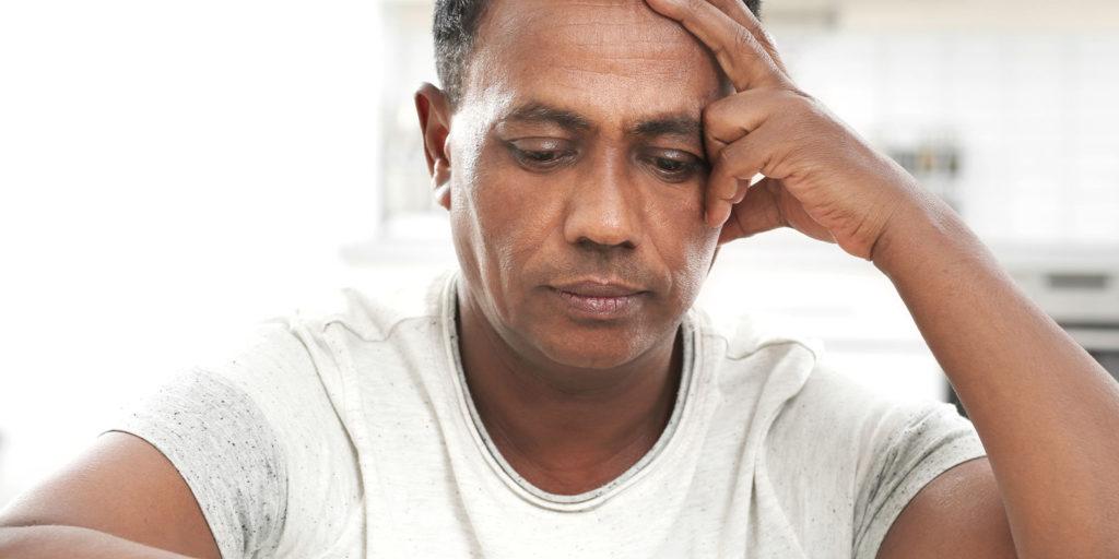 man deciding he needs rehab for alcohol